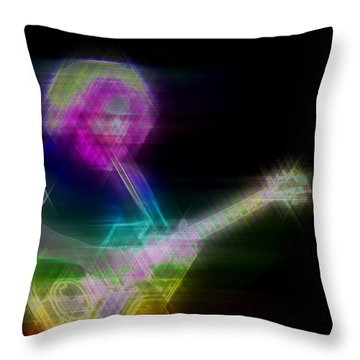 Throw Pillow featuring the digital art Touch Of Gray by Kenneth Armand Johnson