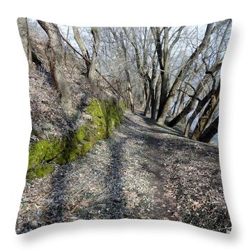 Throw Pillow featuring the photograph Touch Of Green by Michael Porchik