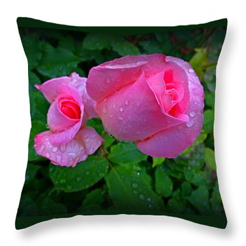Touch Of Pink Throw Pillow by Nick Kloepping