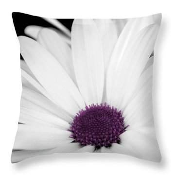 Touch Of Purple Throw Pillow by Xenia Headley