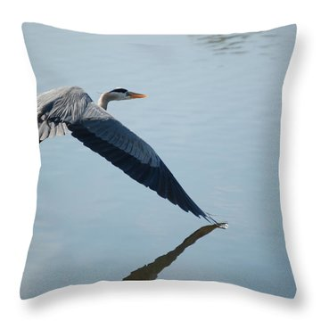Touch The Water With A Wing Throw Pillow