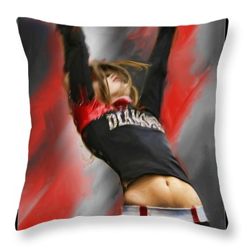 Touchdown Throw Pillow by Blake Richards