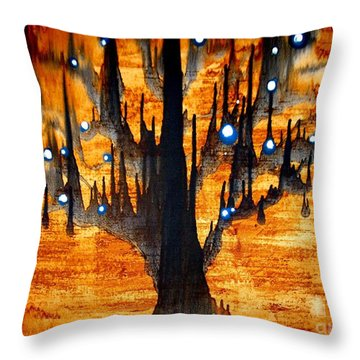 Throw Pillow featuring the painting Touched by Amy Sorrell