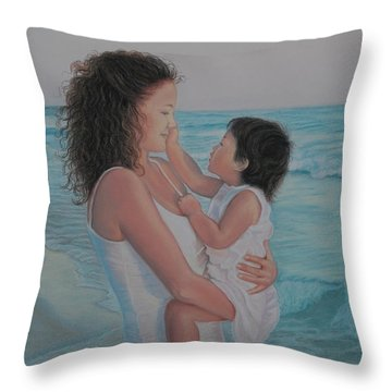 Touched By An Angel Throw Pillow by Holly Kallie
