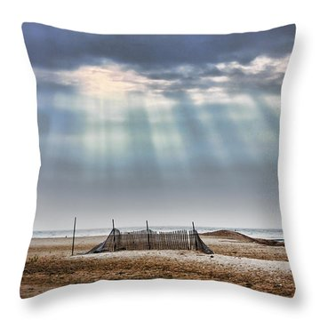 Touched By Heaven Throw Pillow by Sennie Pierson