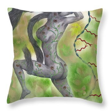 Touched By Nature Throw Pillow