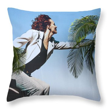 Touching The Canopy.  Throw Pillow