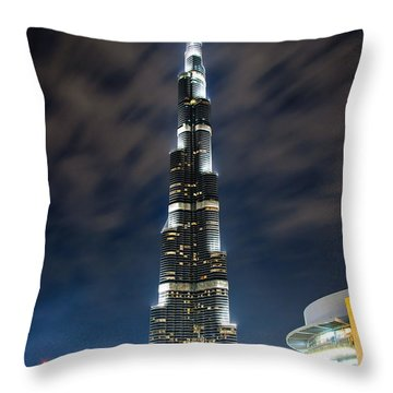 Touching The Sky Throw Pillow by Syed Aqueel