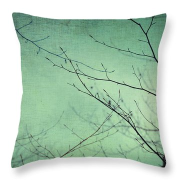 Touching The Sky Throw Pillow by Taylan Apukovska