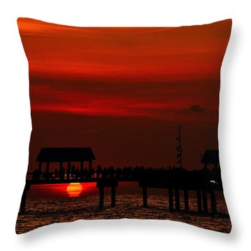 Touching The Sunset Throw Pillow