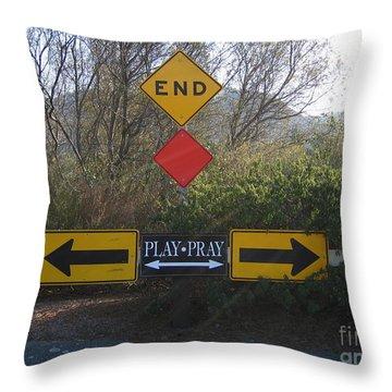 Tough Decision Throw Pillow