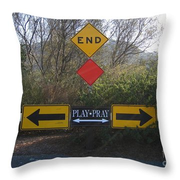 Tough Decision Throw Pillow