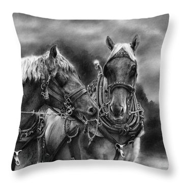 Tough Guys Throw Pillow