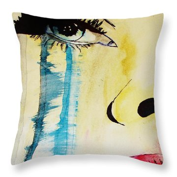 Throw Pillow featuring the painting Tougher Than You Think 2 by Michael Cross