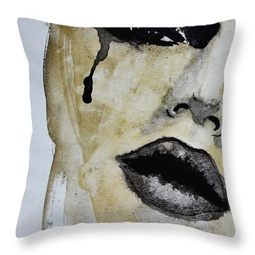 Throw Pillow featuring the painting Tougher Than You Think 3 by Michael Cross