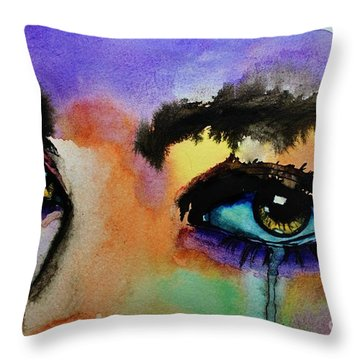 Throw Pillow featuring the painting Tougher Than You Think by Michael Cross