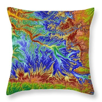 Toulouse France Map Art Throw Pillow by Paul Hein