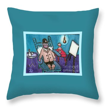 Toulouse Is Resting. Throw Pillow by Joyce Gebauer
