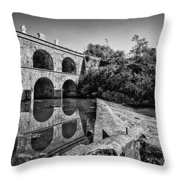 Tounj Bridge Throw Pillow by Davorin Mance