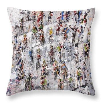 Tour De France Stage 2 Throw Pillow by Neil McBride