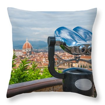Touristic Florence Throw Pillow