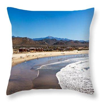 Tourists At Cerritos Beach, Todos Throw Pillow