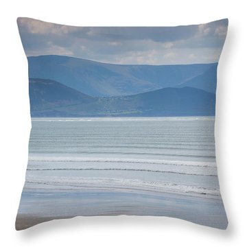 Tourists On The Beach, Inch Strand Throw Pillow