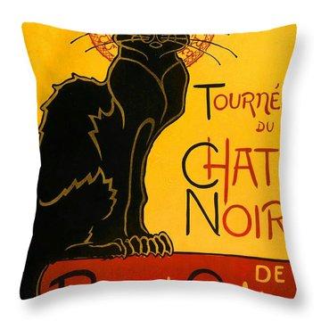 Tournee Du Chat Noir Throw Pillow