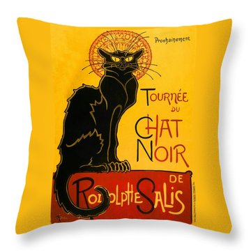 Tournee Du Chat Noir Throw Pillow