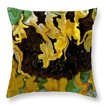Tournesol Throw Pillow by Chris Berry