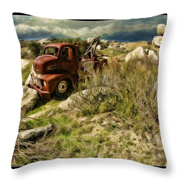 Tow Truck No Where To Go Throw Pillow