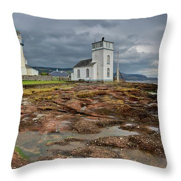 Toward Lighthouse  Throw Pillow by Gary Eason