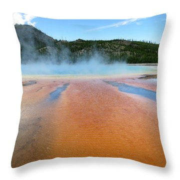 Throw Pillow featuring the photograph Toward The Blue Stream by Laurel Powell