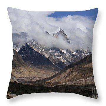 Towards Bhagirathi Throw Pillow