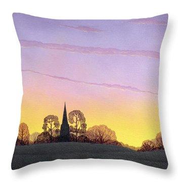 Towards Grandborough Throw Pillow by Ann Brian