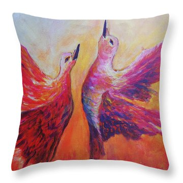 Throw Pillow featuring the painting Towards Heaven by Sher Nasser
