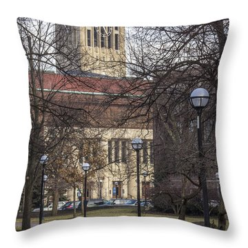 Tower At U Of M Throw Pillow by John McGraw