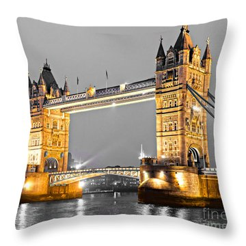 Tower Bridge - London - Uk Throw Pillow by Luciano Mortula