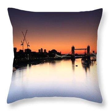Tower Bridge 2 Throw Pillow by Mariusz Czajkowski