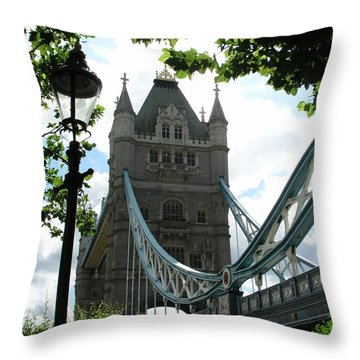 Tower Bridge Throw Pillow by Bev Conover