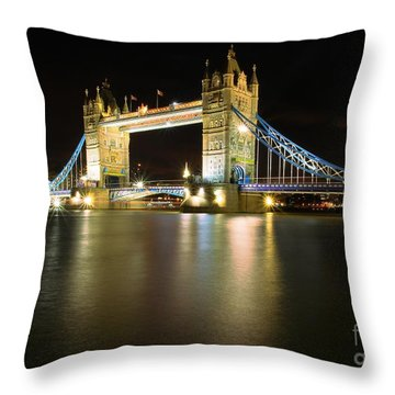 Throw Pillow featuring the photograph Tower Bridge London by Mariusz Czajkowski