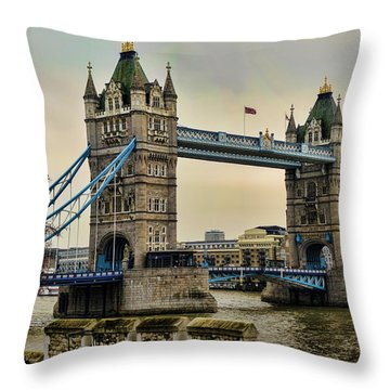 Tower Bridge On The River Thames Throw Pillow by Heather Applegate