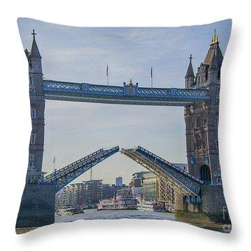 Tower Bridge Opened Throw Pillow