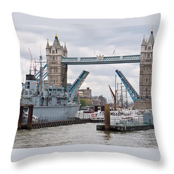 Tower Bridge Opens Throw Pillow