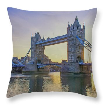 Tower Bridge Sunrise Throw Pillow