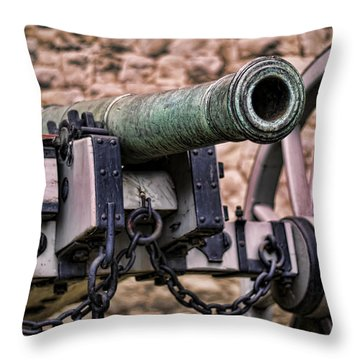Tower Canon Throw Pillow by Heather Applegate