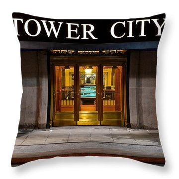 Tower City Cleveland Ohio Throw Pillow