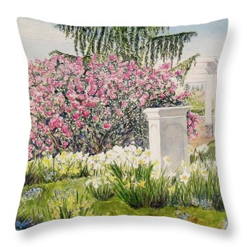 Tower Hill Center Throw Pillow by Carol Flagg