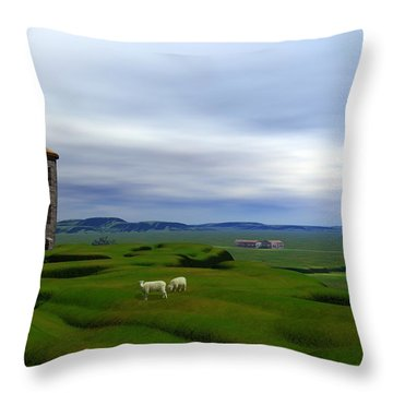 Tower Hill Throw Pillow by John Pangia