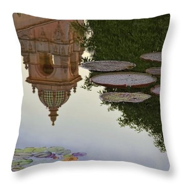 Throw Pillow featuring the photograph Tower In Lotus Position by Gary Holmes